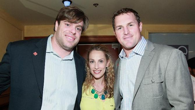 From left, Eric Winston of the Kansas City Chiefs and Jason Whitten of the Dallas Cowboys are seen at the VIP Reception hosted by the NFLPA, on Thursday, Jan. 31, 2013 in New Orleans. (Photo by Dario Cantatore/Invision for NFLPA/AP Images)