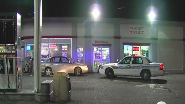 Man stabbed at gas station