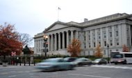The US Treasury Building in Washington, DC, November 15, 2012. If no agreement is reached by year's end on the deficit, taxes rise on all Americans on January 1, followed by some $110 billion in spending cuts in 2013, split evenly between military and civilian programs.