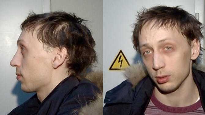 """In this combo frame grab taken from video supplied by the Moscow Interior MInistry branch website on Wednesday, March 6, 2013, 29-year-old Pavel Dmitrichenko, the star Russian ballet dancer is seen in Moscow. Dmitrichenko, who most recently played the title role in """"Ivan the Terrible"""" at the famed Bolshoi Theater has confessed to the acid attack on the theater's ballet chief, Moscow police said on Wednesday. (AP Photo/  Moscow Interior MInistry branch website)"""