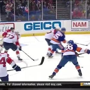Clutterbuck's drop pass helps Vanek score