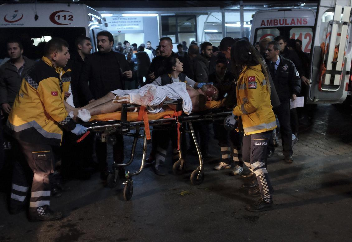 Twin blasts near Istanbul soccer stadium kill 29 , wound 166