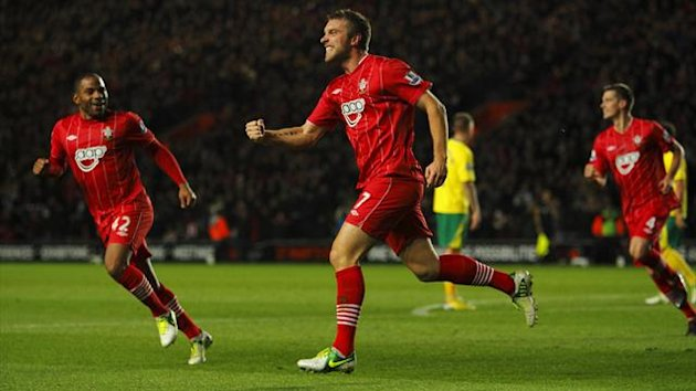 Rickie Lambert equalised from the spot for Southampton