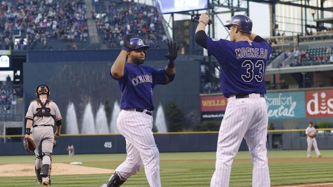 Rockies hit 5 homers in 8-2 win over Giants