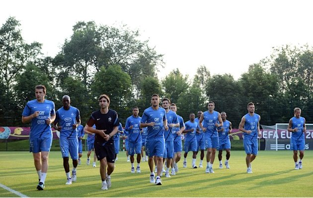 France's National Football Team Take Part In A Training Session At The Training Center In Kircha On June 20, 2012 AFP/Getty Images