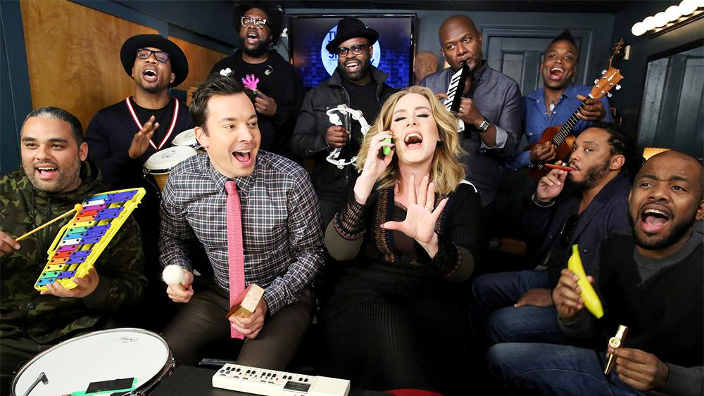Watch: Adele, Jimmy Fallon, The Roots Perform 'Hello' With Classroom Instruments