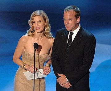 Kyra Sedgwick, Kiefer Sutherland Emmy Awards - 9/18/2005