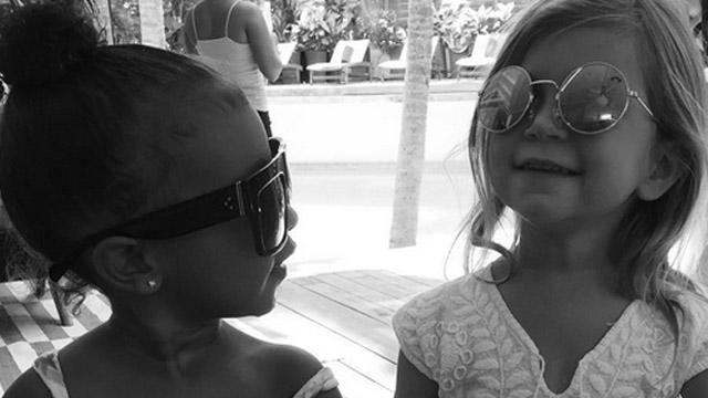 Khloe Kardashian Shares Adorable Photo of North West & Penelope Disick