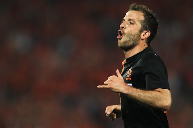 Rafael Van Der Vaart (#23) Of Netherlands Celebrates  Getty Images