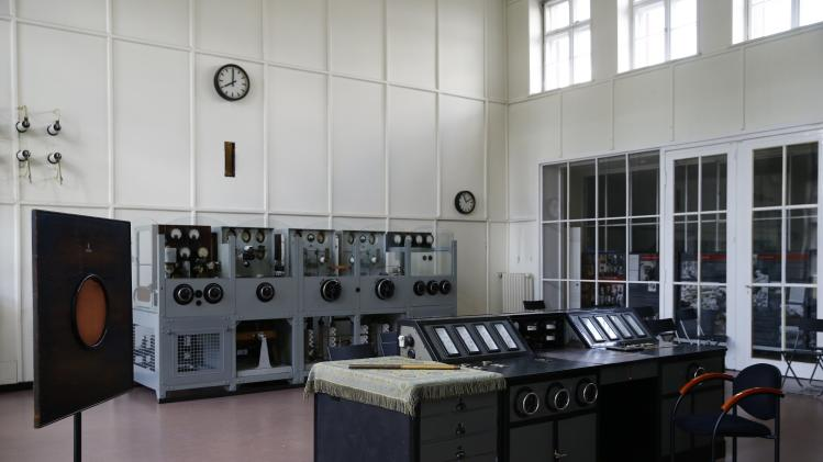 General view of radio station facilities is pictured inside a building of Gliwice radio station