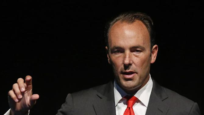 Kyle Bass, founder and principal of Hayman Capital Management, L.P., speaks at the Sohn Investment Conference in New York