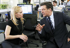 Elizabeth Banks and Alec Baldwin | Photo Credits: Ali Goldstein/NBC