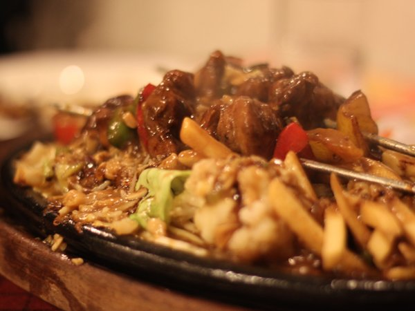 pepper steak with bourbon sauce sizzler