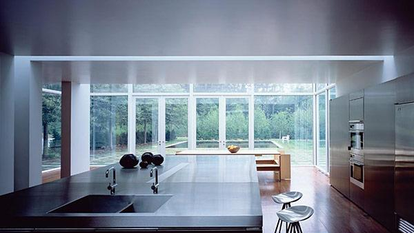 A nearly invisible multi-million glass house