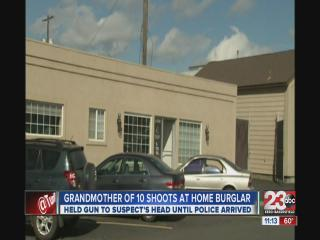 Grandmother of 10 shoots at burglar