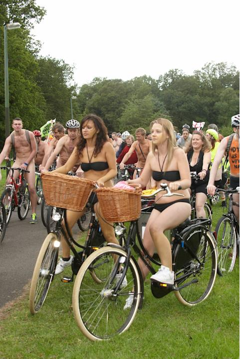 Cyclistsattend The 2012 Annual Naked Bike Ride in SouthamptonSouthampton, England - 08.06.12Credit: (Mandatory) WENN.com