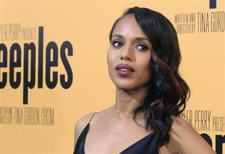 "Actress Kerry Washington, one of the stars of the new film ""Peeples"", arrives at the film's premiere in Hollywood"
