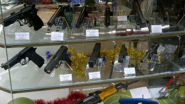 Hey, is that the gun stall at the mall in Ufa, Russia? Yes. Of course it is! (Sunaya Sapurji)