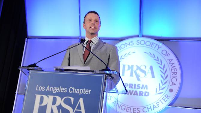 Brian O'Connor, Princess Cruises & Cunard Line VP Sales North America and PRSA-LA former Presidents speaks at the 48th Annual PRism Awards on Wednesday Nov. 7, 2012 in Los Angeles. (Photo by Jordan Strauss/Invision for PRSA Los Angeles/AP Images)