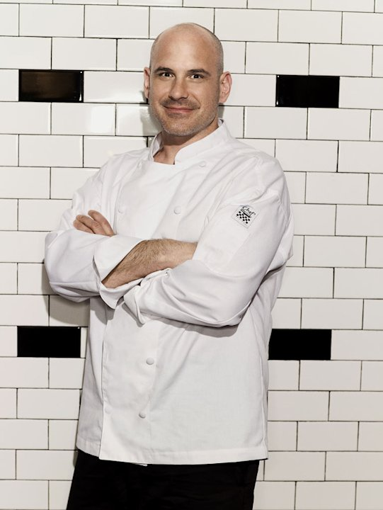"Sous chef Scott helps run the Blue Team on the 9th season of ""Hell's Kitchen."""