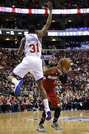 Heat's Wade, Andersen to sit out against Bobcats