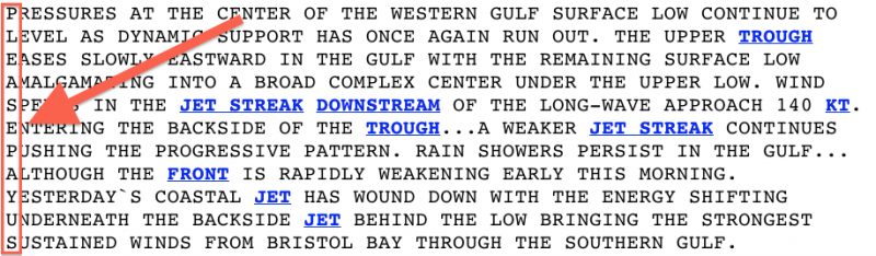 national weather service secret message