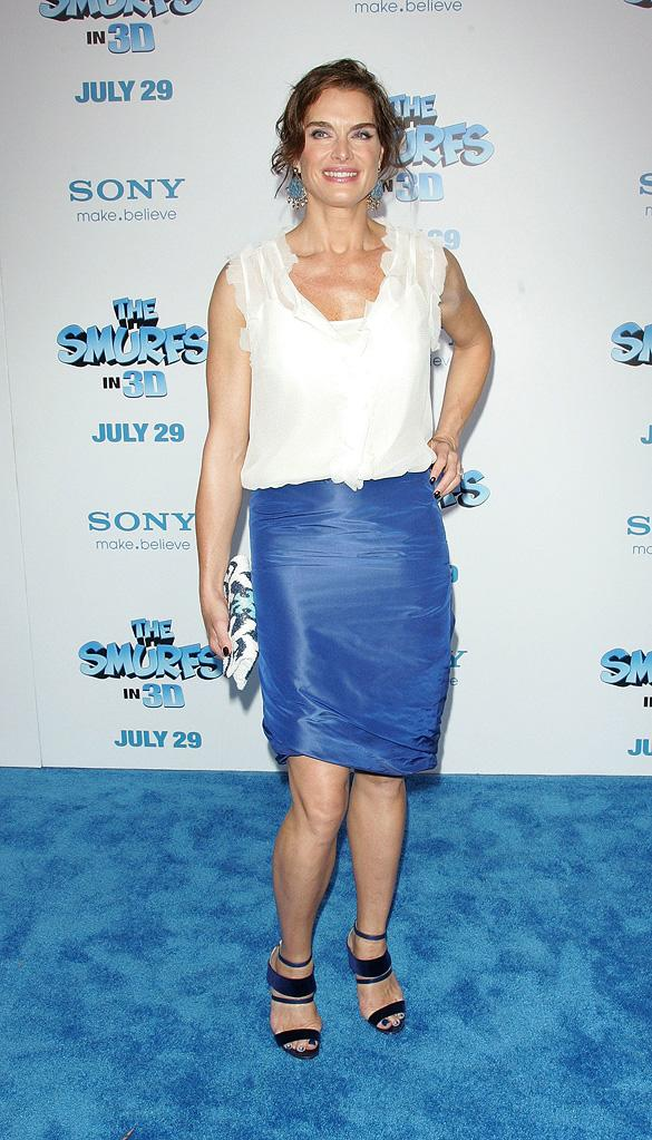 The Smurfs 2011 NY Premiere Brooke Shields
