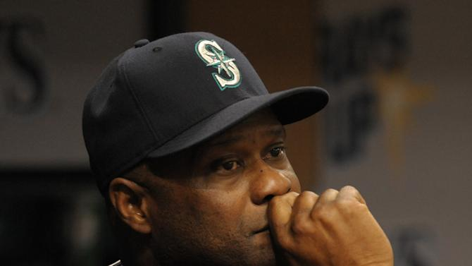 Seattle Mariners manager Lloyd McClendon watches his team play from the dugout during a baseball game against the Tampa Bay Rays Tuesday, May 26, 2015, in St. Petersburg, Fla. (AP Photo/Steve Nesius)