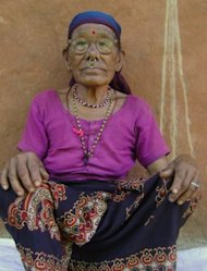 Gyani Maiya Sen belongs to a Nepalese tribe that were once a nomadic people, but she has found herself living out her twilight years in a concrete bungalow built by local authorities in Dang district, western Nepal