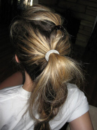 Messy ponytail braid