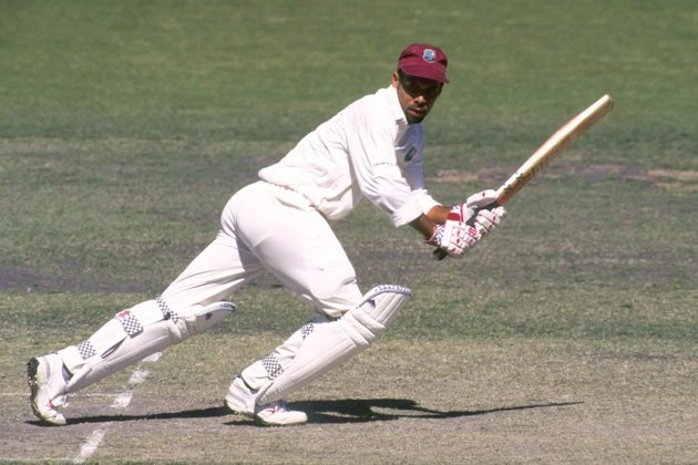 Jimmy Adams of the West Indies in action