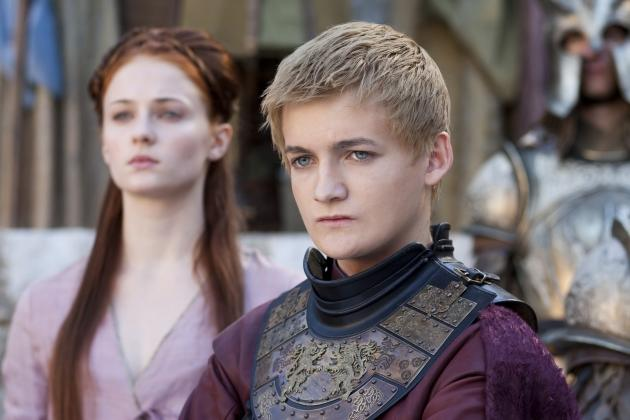 Sophie Turner as Sansa Stark and Jack Gleeson as King Joffrey Baratheon in 'Game of Thrones' Season 2 -- Paul Schiraldi/HBO
