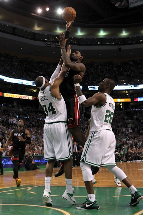   LeBron James #6 Of The Miami Heat Attempts Getty Images