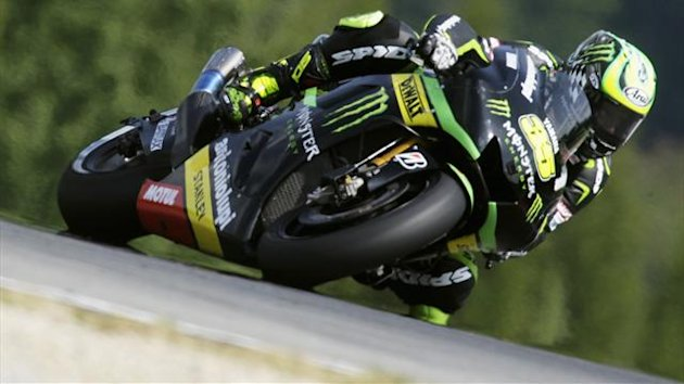 Yamaha MotoGP rider Cal Crutchlow of Britain speeds on his motorcycle during second free practice at the Czech Grand Prix in Brno August 23, 2013 (Reuters)
