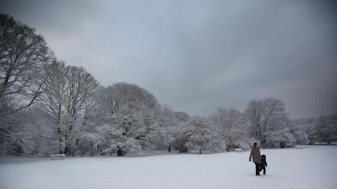 Snow Continues To Fall Across The UK
