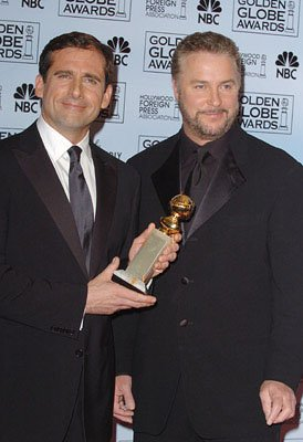 Steve Carell with presenter William Petersen
