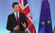 Clegg: Euro Break-Up Would Harm Britain