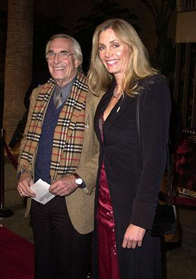 Martin Landau and Gretchen Becker at the Los Angeles premiere of Warner Brothers' The Pledge