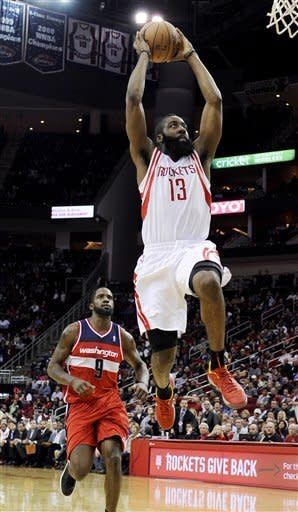 Harden scores 31 to lead Rockets over Wizards