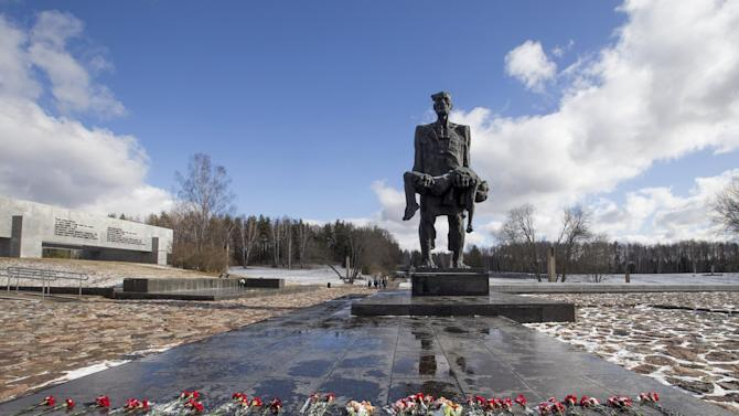 World War Two memorial is seen in the former village of Khatyn, northeast of Minsk