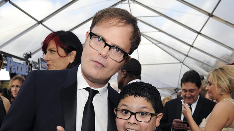 Rainn Wilson and Rico Rodriguez