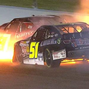 Clements and Smith in fiery crash