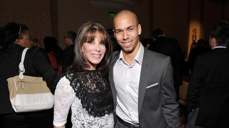 Kate Linder, left, and Bryton James attend the Daytime Emmy Nominee Cocktail Reception in Beverly Hills, Calif., on Thursday, June 13, 2013. (Photo by John Shearer/Invision for Academy of Television Arts & Sciences/AP Images)