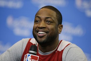 Dwyane Wade and the Heat are trying to win a third straight NBA championship. (AP)
