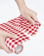 Gingham Check Luncheon Napkins on a Roll