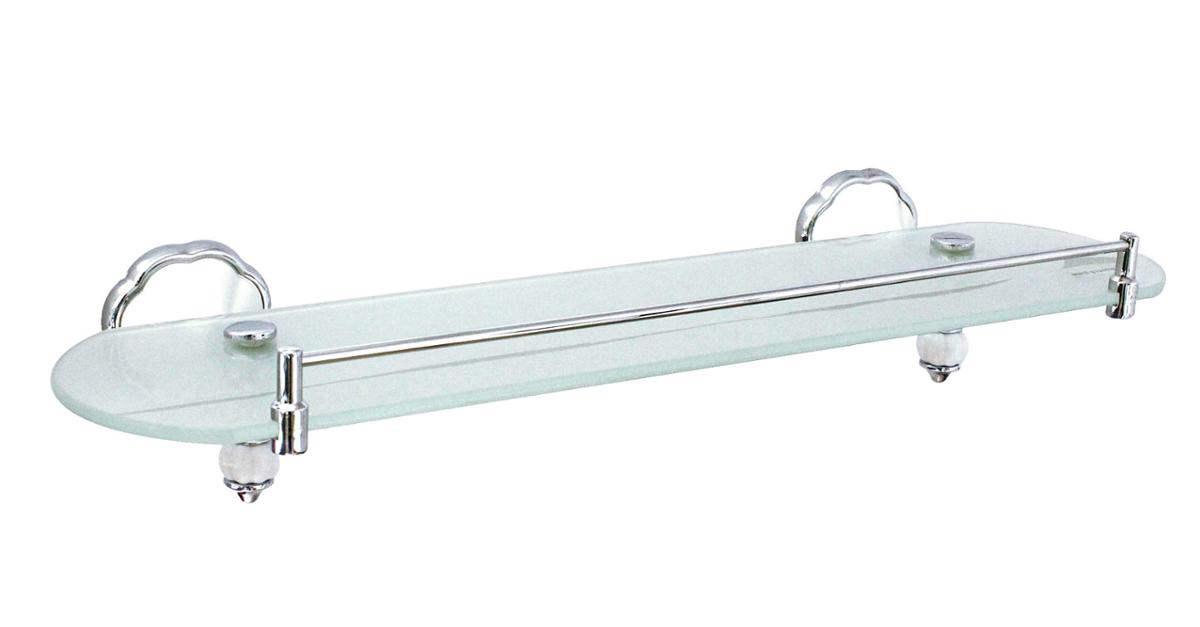 "NEW 20"" Glass Bathroom Shelf with Rail $ 25.99"