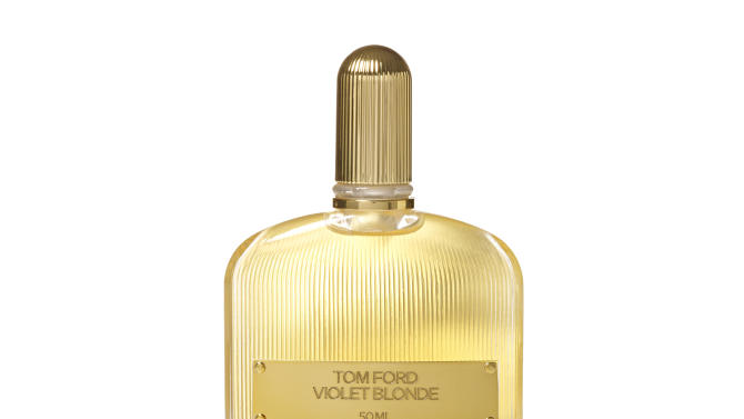 "This product image released by Tom Ford Beauty shows ""Tom Ford Violet Blonde.""  The fragrance was picked as the women's best luxury fragrance at the 40th Fifi Awards in New York on Monday, May 21, 2012. (AP Photo/Tom Ford Beauty)"