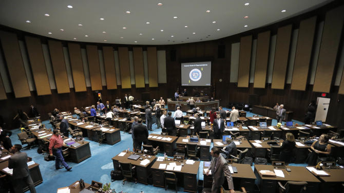 The Arizona House meets during a special session for Medicaid funding on Thursday, June 13, 2013, in Phoenix. (AP Photo/Matt York)