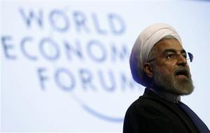 Iran's President Rouhani speaks during session of World Economic Forum in Davos