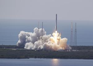 The SpaceX Falcon 9 rocket and Dragon spacecraft lifts…